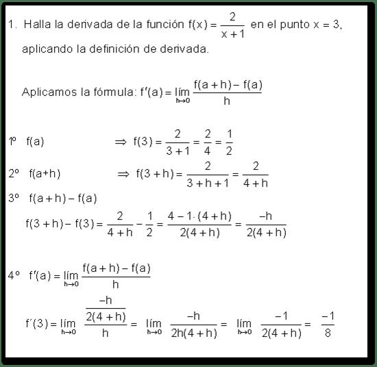 , Ejercicios de cálculo de derivadas (Resueltos con respuestas), Estudianteo