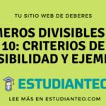 Números divisibles por 10: criterios de divisibilidad y ejemplos
