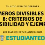 Números divisibles por 8: criterios de divisibilidad y ejemplos