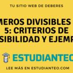 Números divisibles por 5: criterios de divisibilidad y ejemplos