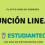 Función lineal (concepto, pasos y ejercicios resueltos)