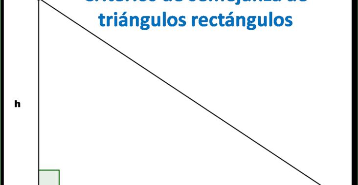 , Criterios de semejanza de triángulos rectángulos, Estudianteo